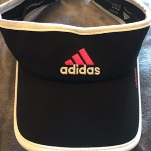 Adidas Women's Black, Pink and White Visor